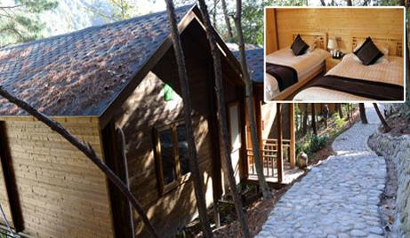 【楠溪江】仅需608元/套,即可享受原价880元/套的大若岩百丈瀑景区小木屋标间客房一间,独特的木质古朴建筑和舒适的自然环境带您感受民宿独特的静谧与安逸。