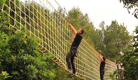 【楠溪江】仅需35/人即可享受原价50/人的楠溪江百丈瀑户外拓展项目活动套票!在这个不甚寒冷的冬季,临空漫步+网墙横渡+独木浮桥+空中秋千+单板钢丝五项拓展等你挑战!