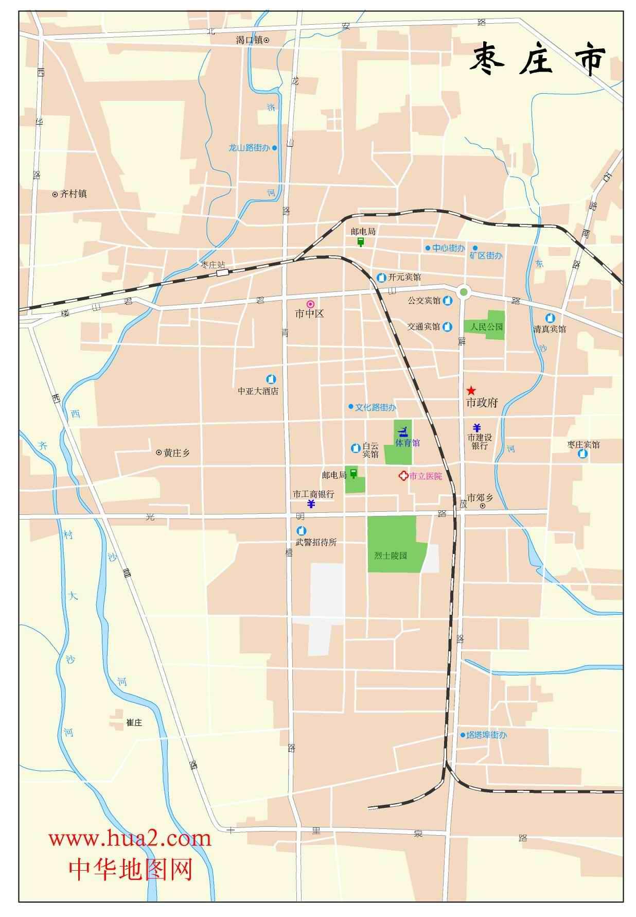 枣庄市区地图