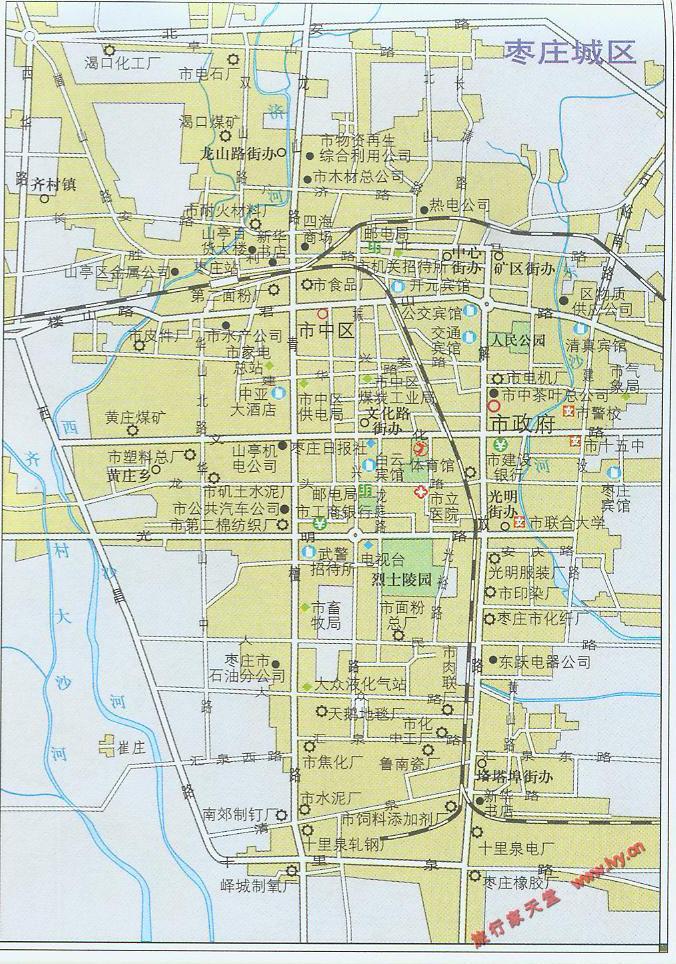 枣庄市城区地图