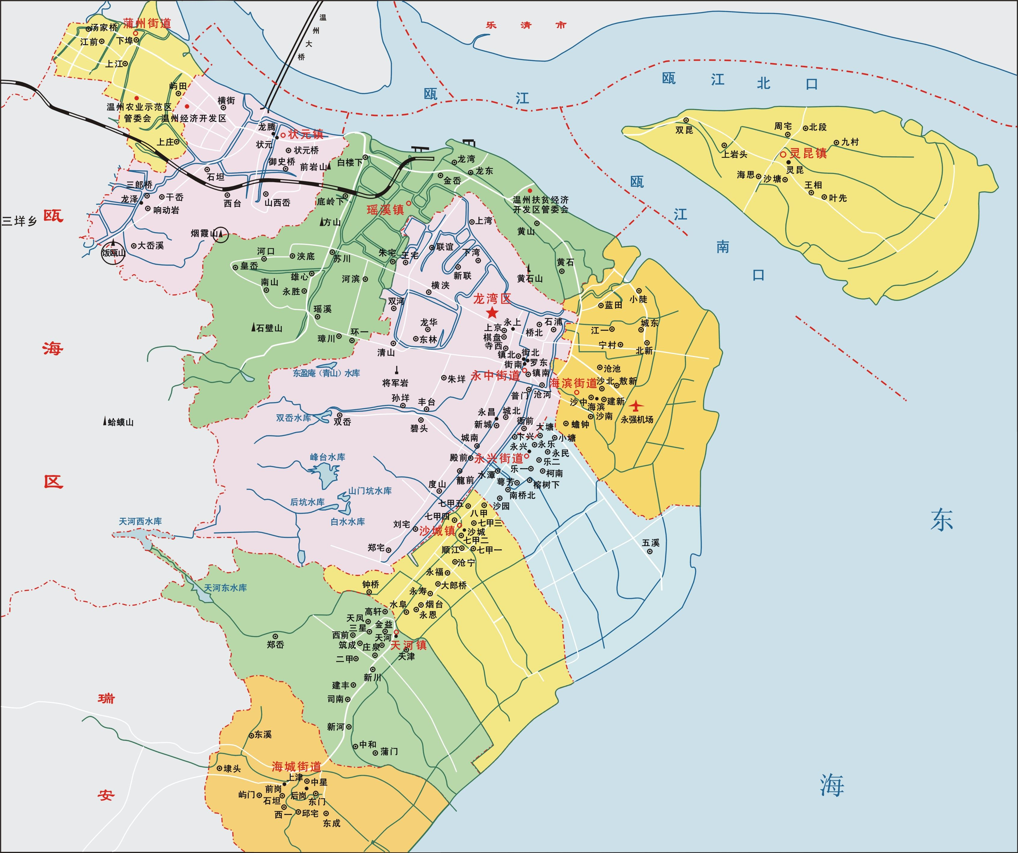 温州地图简笔画